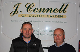 John Connell at French Garden/ Fruit and Vegetable Suppliers to Londons Finest Restaurants